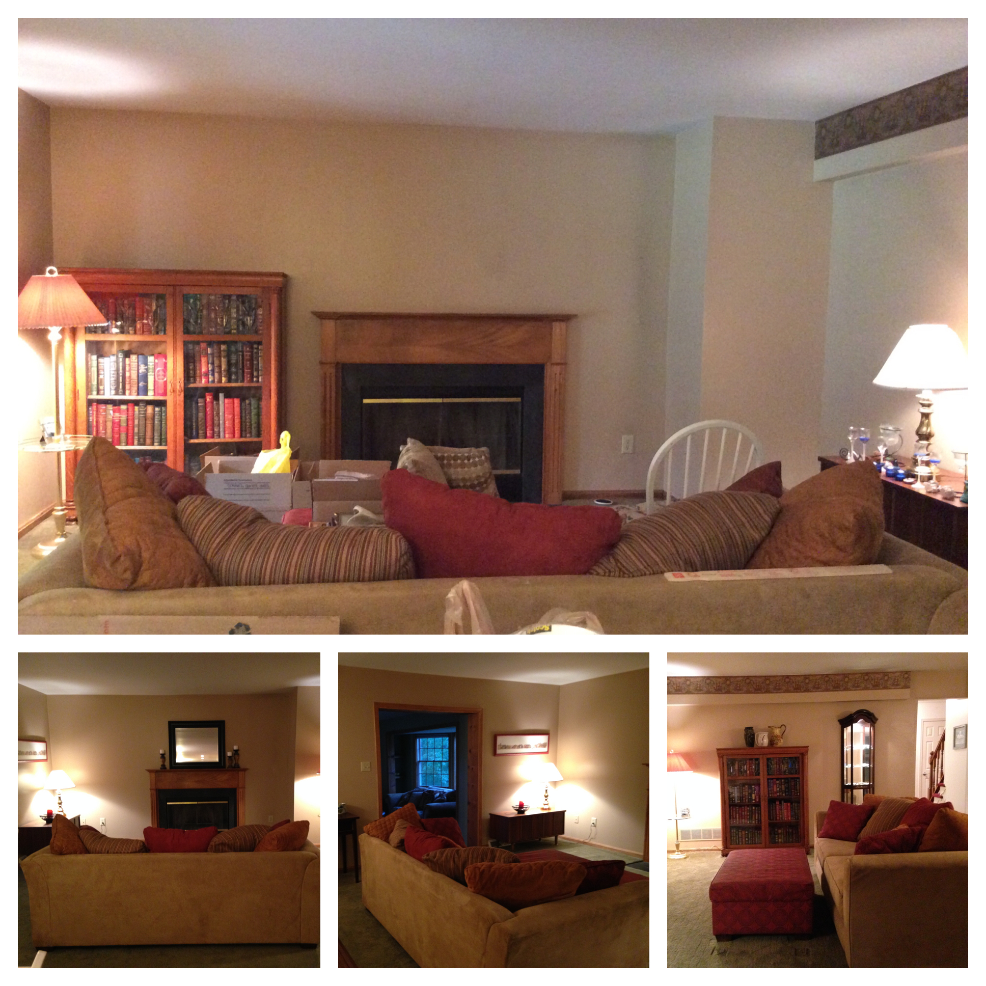 family room-before & after